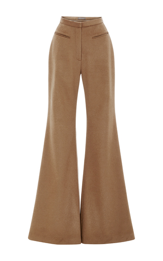 Medium hensely tan cashmere tailored palazzo pants  2