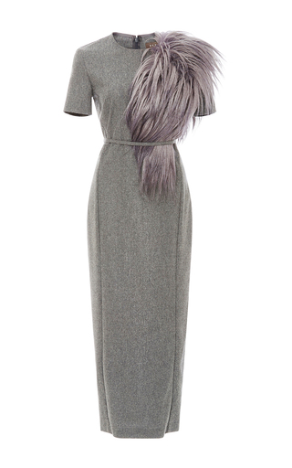 Medium hensely light grey fitted pencil dress