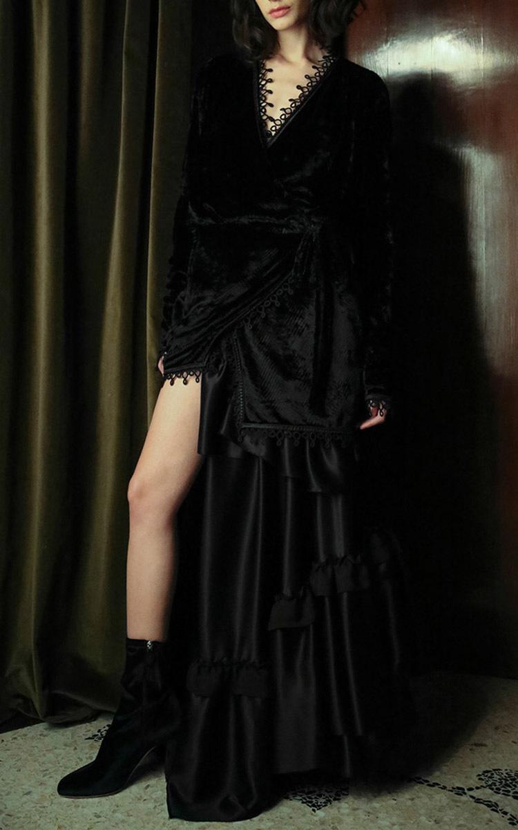 Anjelica Crushed Velvet Short Dressing Gown by Attico | Moda Operandi