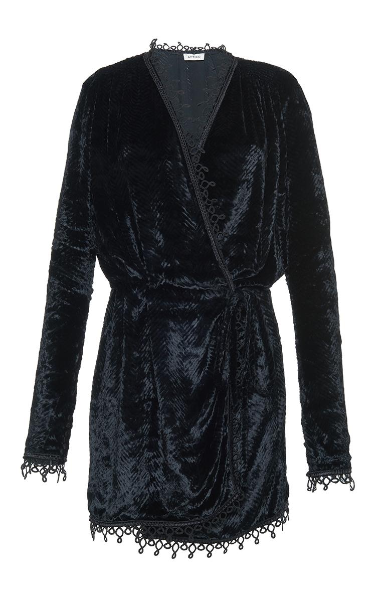 Anjelica Crushed Velvet Short Dressing Gown by Attico   Moda Operandi