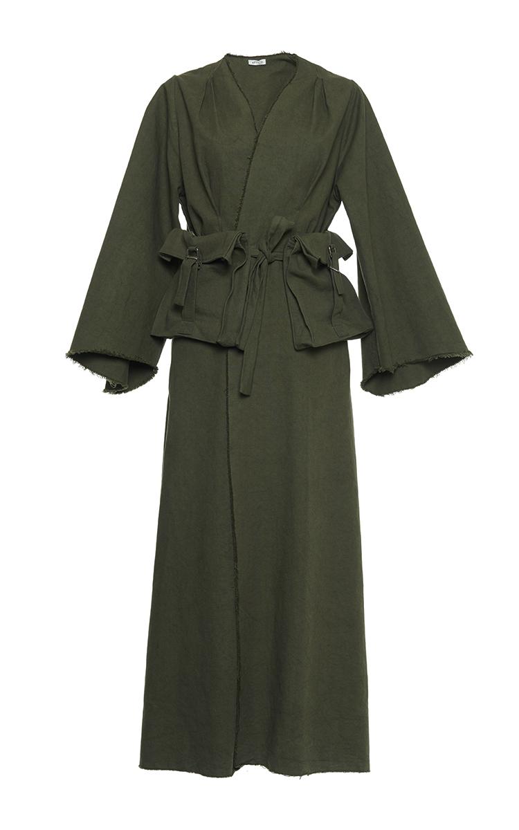 Joanna Fur Trimmed Long Dressing Gown By Attico Moda Operandi
