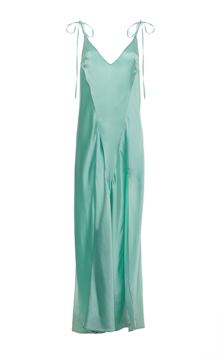 Medium attico green mint green marisa slip dress