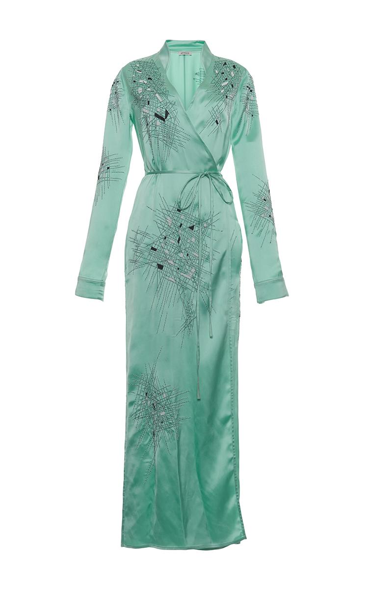 Bianca Long Satin Dressing Gown by Attico | Moda Operandi