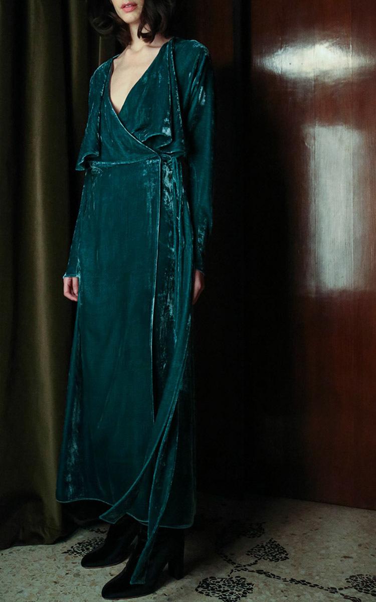 Ali Long Velvet Dressing Gown by Attico | Moda Operandi