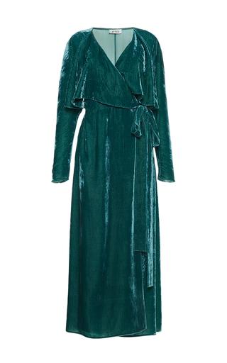 Medium attico green ali long velvet dressing gown