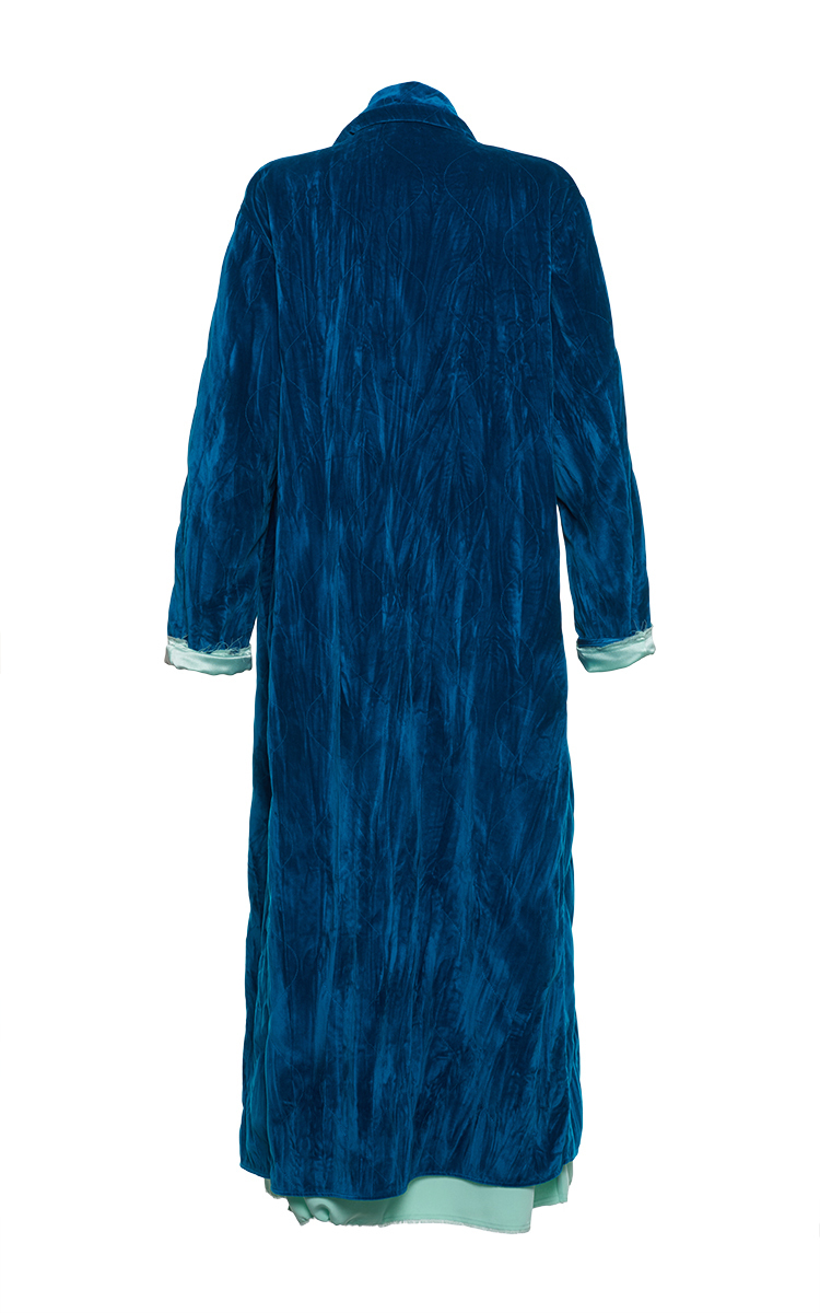 Talitha Long Quilted Velvet Dressing Gown by Attico | Moda Operandi
