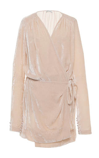 Medium attico pink anjelica velvet short dressing gown