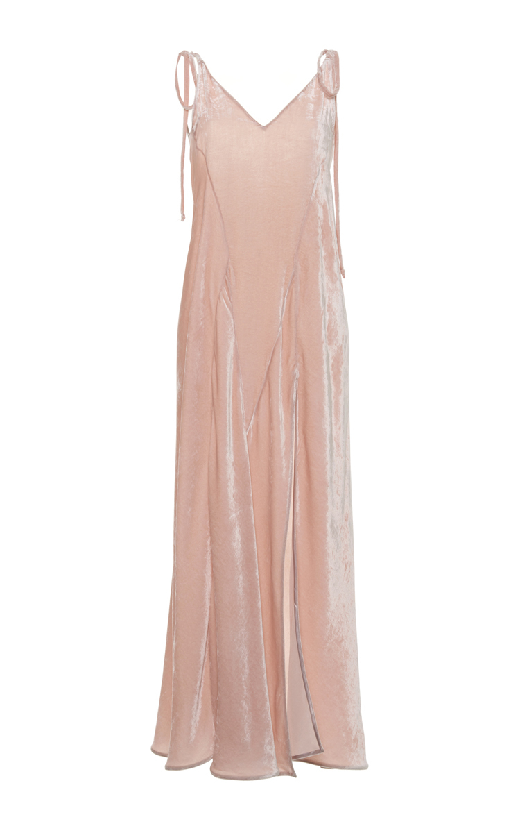 Pink long dress Attico e5MJRAD