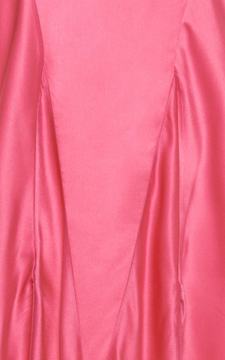 Stevie Short Silk Satin Dressing Gown by Attico   Moda Operandi