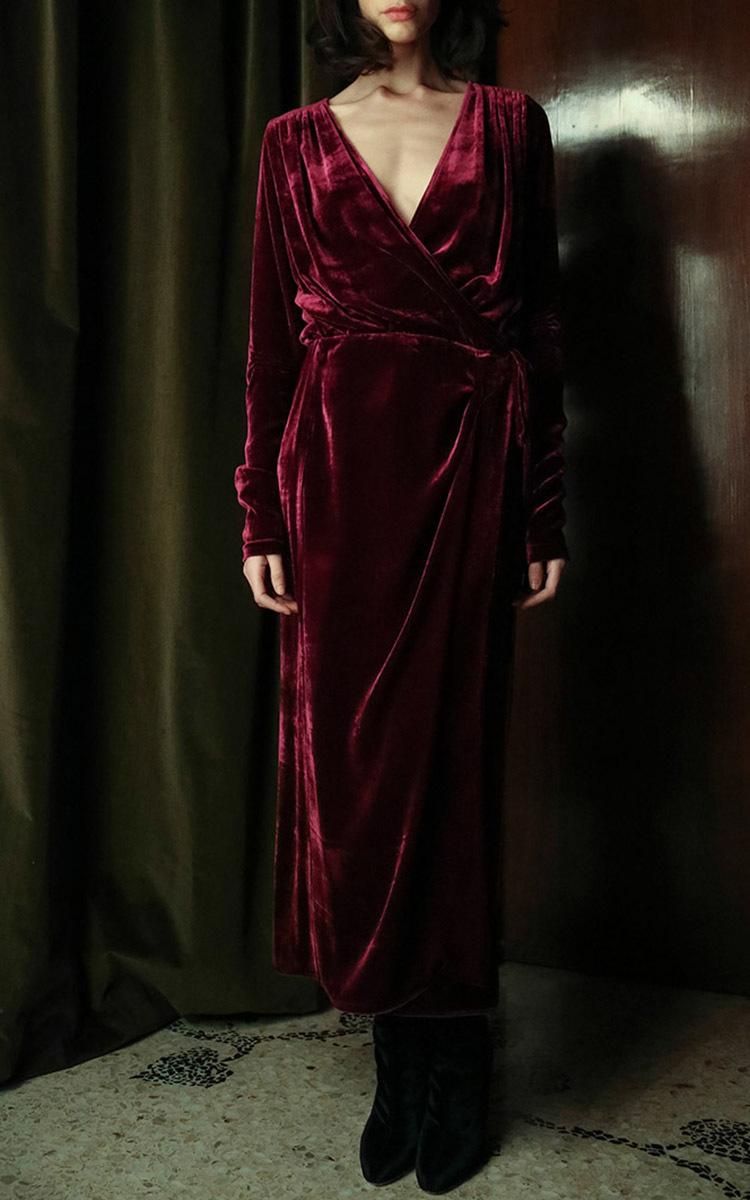 Jane Long Velvet Dressing Gown by Attico | Moda Operandi