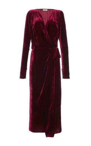 Medium attico burgundy jane long velvet dressing gown