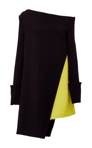 Medium ji oh navy ludlow asymmetric dress