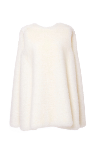 Medium ji oh white robertson faux fur dress