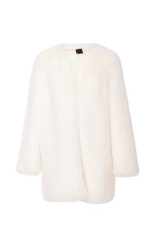 Medium ji oh white tula faux fur coat