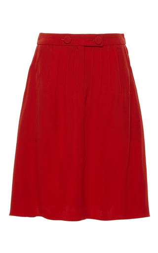 Medium alexis mabille red red pleated moroccan skirt
