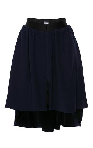 Medium alexis mabille navy pleated asymmetrical skirt