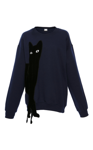 Medium alexis mabille navy navy cat sweatshirt