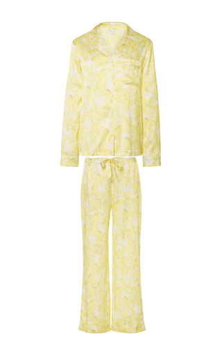 Medium yolke yellow classic pajama set 4