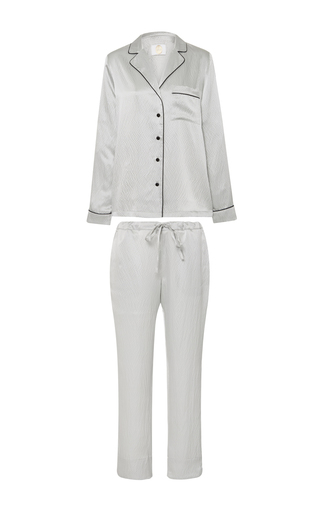 Medium yolke silver classic pajama set 2
