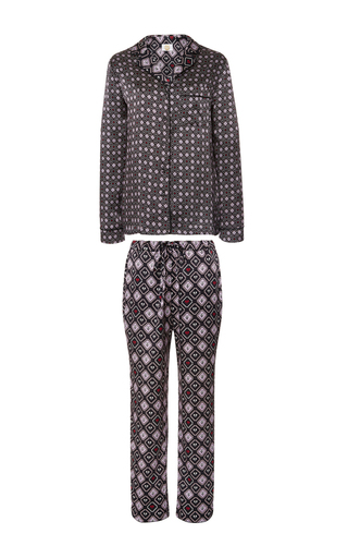 Medium yolke print classic pajama set 3