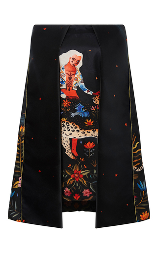 Medium sandra mansour print artemisia printed mikado dress