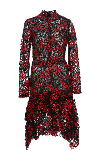 Medium sandra mansour red apranik guipure lace short dress