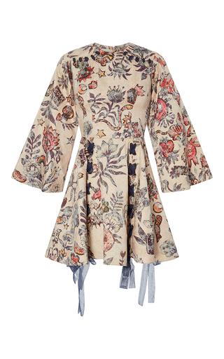 Medium sandra mansour print pantea brocade flounced short dress