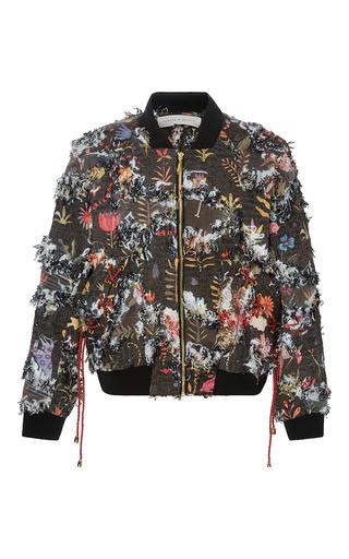 Medium sandra mansour print aspas jacquard bomber jacket