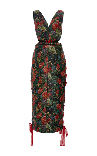 Medium sandra mansour floral banu floral wax brocade dress