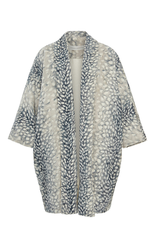 Medium sandra mansour print amitis printed faux fur jacket
