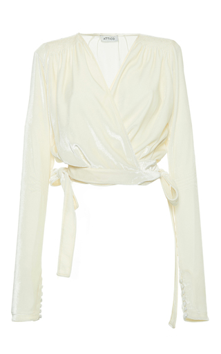 Medium attico ivory patti velvet top