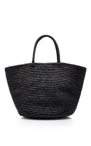 Medium sensi studio black straw maxi tote 2
