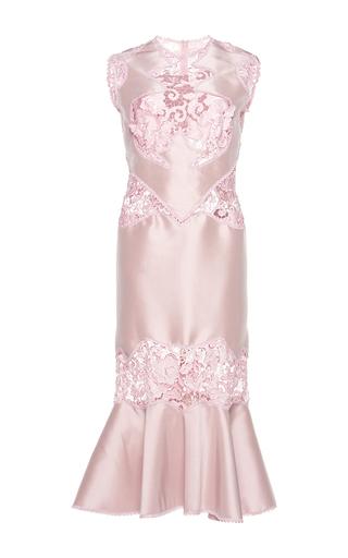Medium costarellos pink embroidered lace midi dress