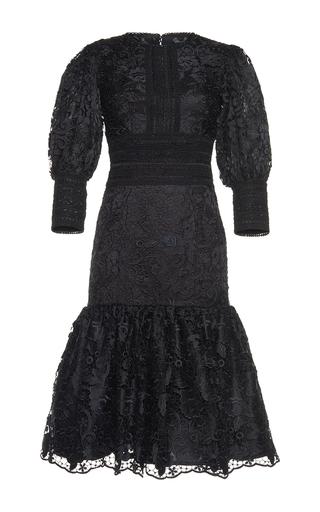 Medium costarellos black victorian midi lace dress