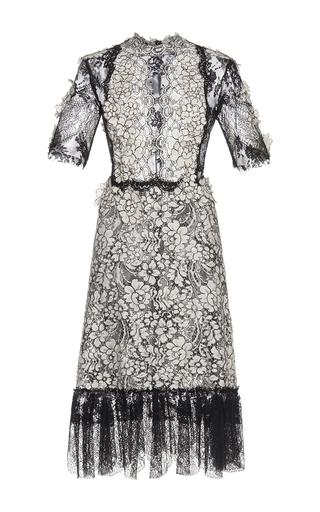 Medium costarellos black cordone lace short dress