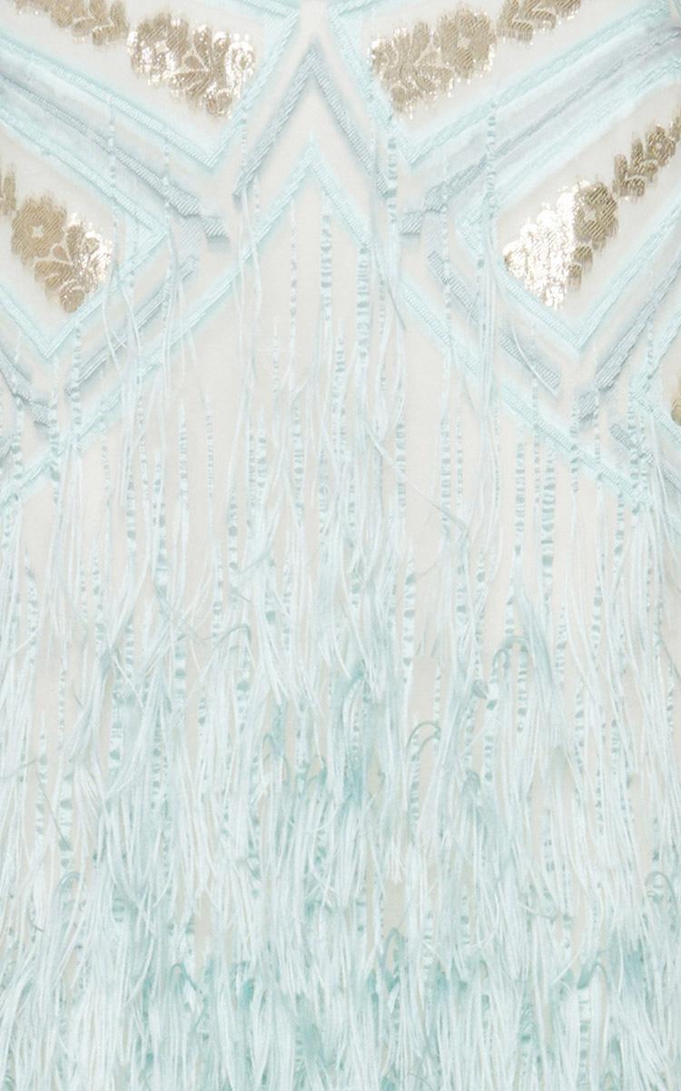 Light Blue Feather Skirt