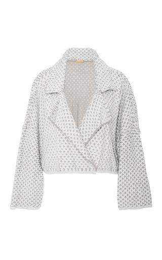 Medium pepa pombo light grey soft cropped cardigan jacket