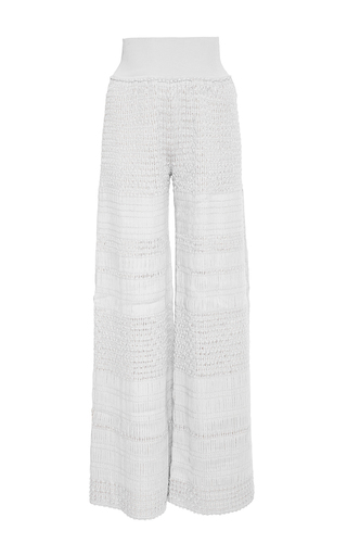 Medium pepa pombo light grey ribbon high waisted flare pant