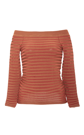 Medium pepa pombo stripe off the shoulder striped top