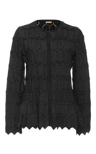 Medium pepa pombo black textured knit top