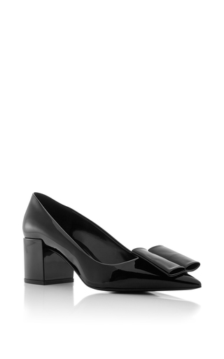 Medium pierre hardy black obi patent leather pumps
