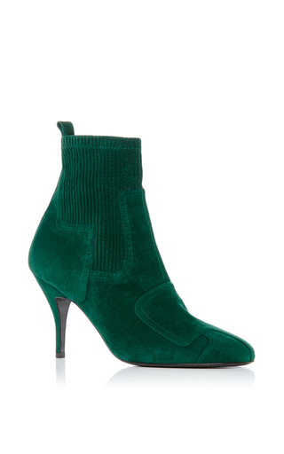 Medium pierre hardy green city rider ankle boot