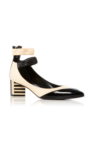 Medium pierre hardy black white siouxsie patent leather pumps