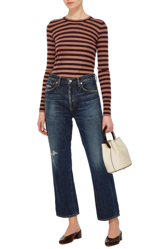 Striped Crewneck Sweater by ROCHAS Now Available on Moda Operandi