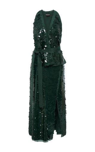 Medium rochas green sleeveless sequin dress