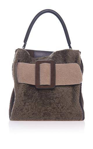 Medium boyy brown shearling devon bag