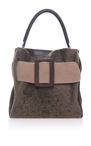 Medium boyy brown shearling devon bag