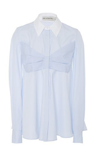 Medium mary katrantzou blue nerina long sleeve blouse