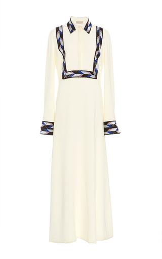 Medium emilio pucci ivory long sleeve sheath midi dress