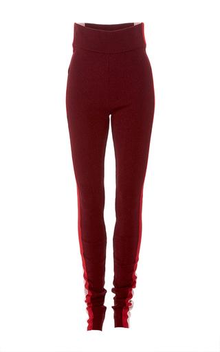 Medium emilio pucci burgundy tuxedo stripe leggings 2